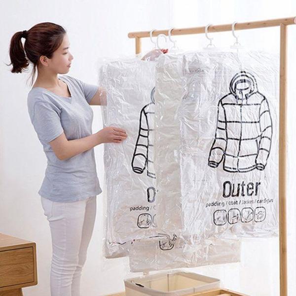 위생 방습 옷걸이형 진공 압축팩 Outer ZIP 입체형 상품이미지