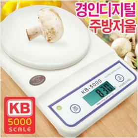 경인산업 디지털주방저울 KB-5000/전자저울/계량저울