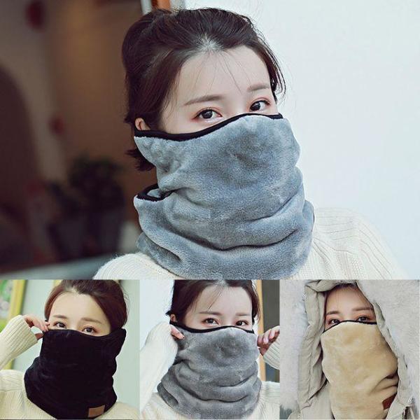 여성 일체형 방한용 넥워머 귀마개 마스크 상품이미지