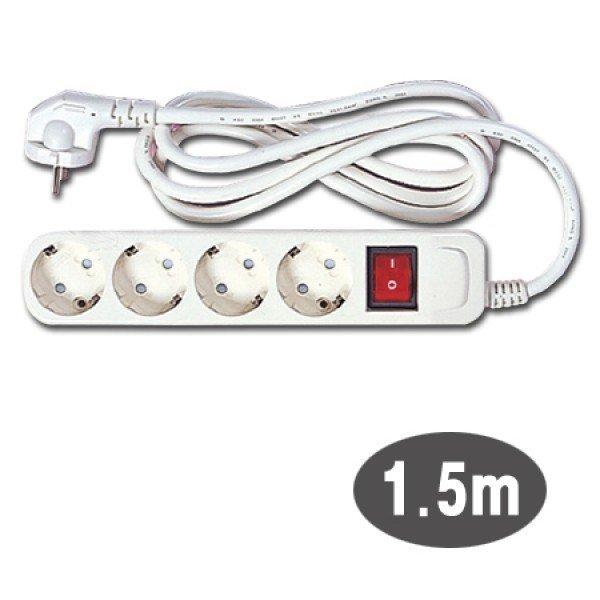 (4구접지 스위치 멀티탭 (M-1240)) 4구멀티탭 전기선 상품이미지