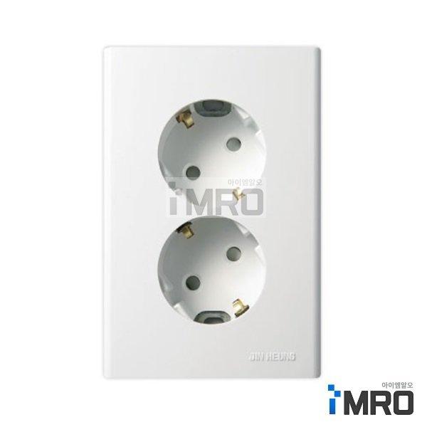 진흥전기 FS 둥근형매입2구 접지콘센트(핀타입) 상품이미지