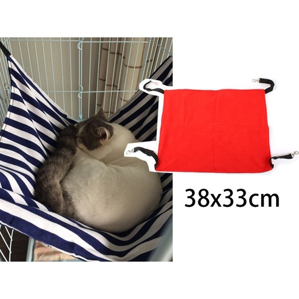 고양이해먹 융모 레드S/고양이집/방석/침대/무료배송 상품이미지