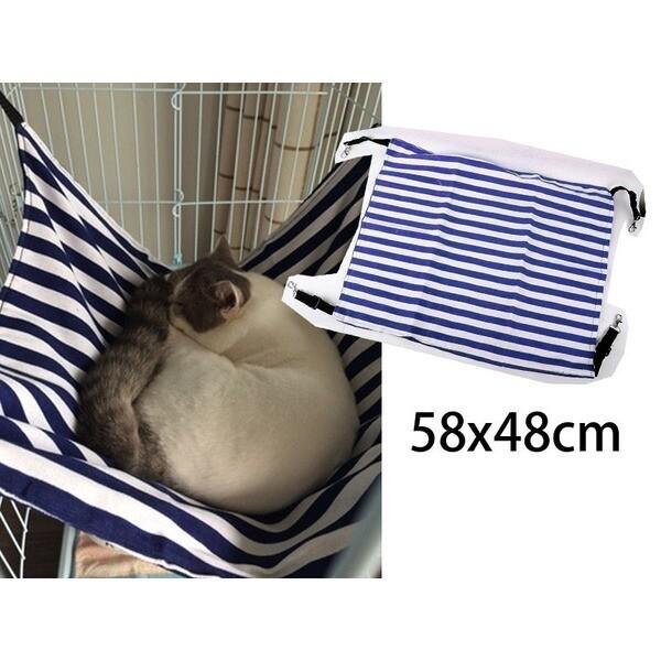 고양이해먹 린넨 줄무늬 블루L/고양이집/침대/무배 상품이미지