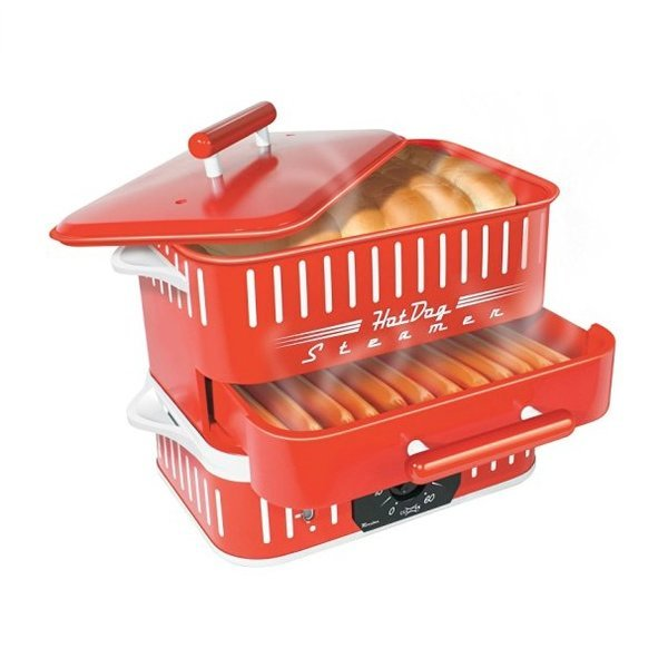 Cuizen CST-1412B Retro Hot Dog Steamer Red 상품이미지