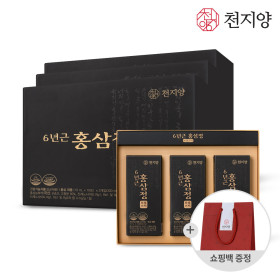 6년근홍삼정로얄스틱 홍삼 홍삼스틱 1+1 총60포 쇼핑백