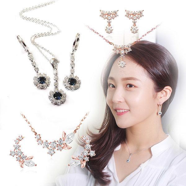 14K GOLD pin Silver Pin 귀걸이+목걸이 쥬얼리세트 상품이미지