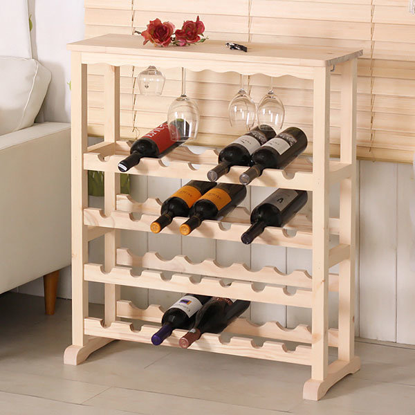 컵걸이 와인거치대 주류보관함 원목와인렉 주방장식장 상품이미지