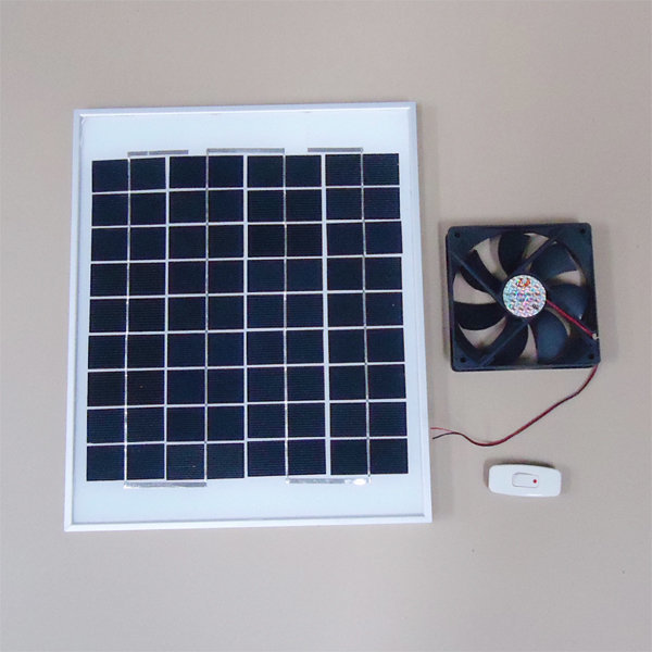 10W 태양광 작동 환기팬 DIY 세트  12X12cm 상품이미지