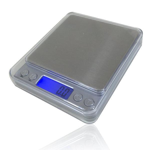 전자저울 1kg 주방 제빵 계량 계측 저울 /미니메탈실버 상품이미지