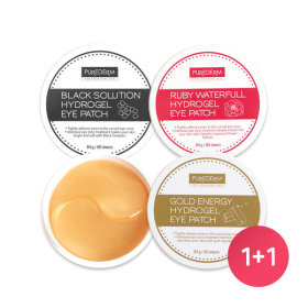 PUREDERM Gold Energy Hydrogel Eye Patches(60sheet) 1+1