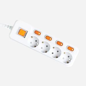 [현대일렉트릭]고용량 멀티탭 에어컨 방수 개별 절전 USB 전기콘센트
