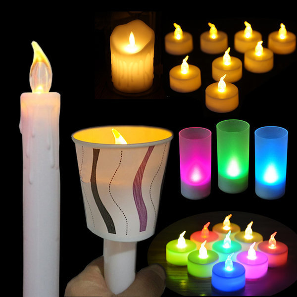 3개세트 LED 건전지 촛불 티라이트 양초 집회 이벤트 상품이미지