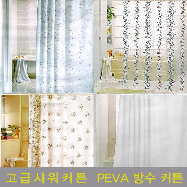 특가판매/100% PEVA 샤워커튼/고급발수코팅소재/욕실 상품이미지