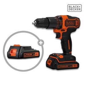 BLACK+DECKER 18V hammer electric drill BDCHD18K1B /battery 2pcs