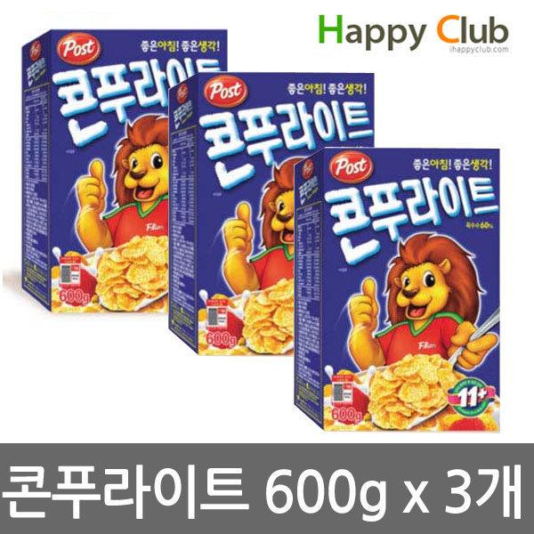 동서식품 콘푸라이트 600 x3개/5대영양/미네랄/씨리얼 상품이미지