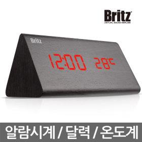 BZ-EWS12 블랙 디지털 LED 알람시계 달력 온도계