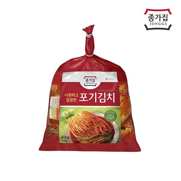 (현대Hmall) 종가집  포기김치 4kg 상품이미지