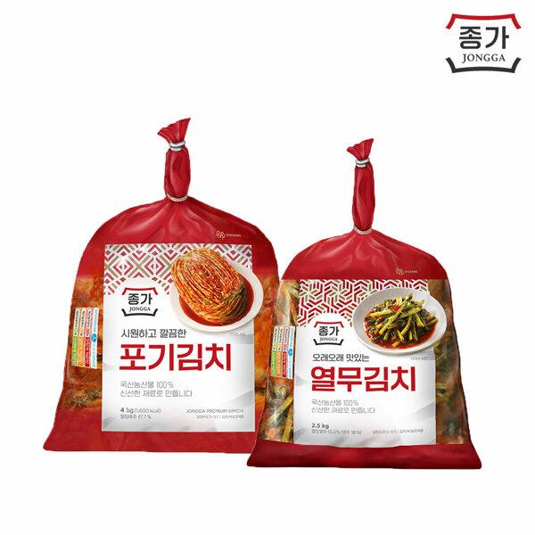 (현대Hmall) 종가집  포기김치 4kg + 열무김치 2.5kg 상품이미지