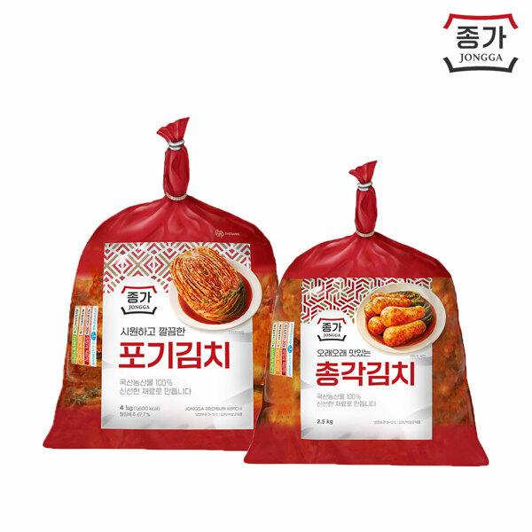 (현대Hmall) 종가집  포기김치 4kg + 총각김치 2.5kg 상품이미지