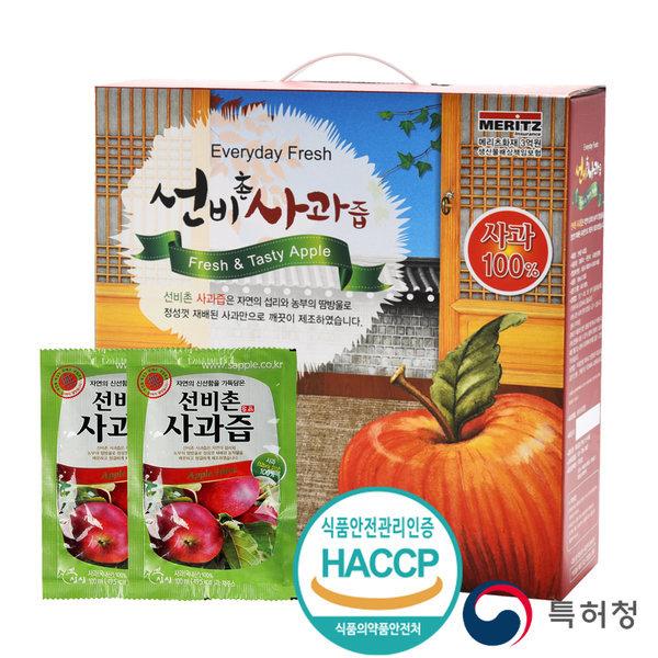 싱싱 선비촌 사과즙 50포 1박스/사과100 /스마일배송 상품이미지