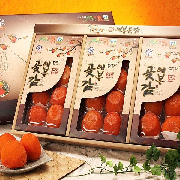 (과일愛)  과일愛 영암 대봉 곶감선물세트 반건시 1호 (90g 내외- 24과) - 보자기포장 상품이미지