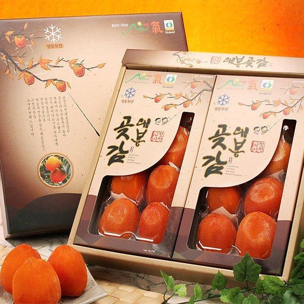 (과일愛)  과일愛 영암 대봉 곶감선물세트 반건시 2호 (90g 내외- 16과) - 보자기포장 상품이미지