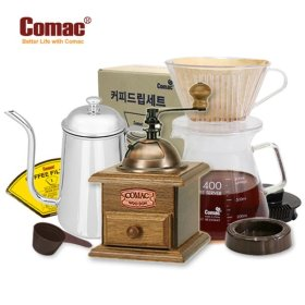 Comac 핸드드립 종합3종세트 (M2-K1-DN1) [핸드밀/커피밀/커피분쇄기/원두분쇄기/커피그라인더/드립포트...