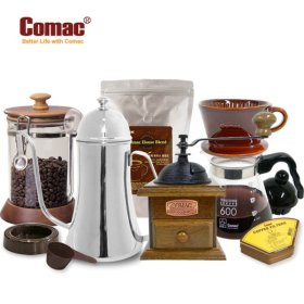 Comac 핸드드립 홈카페 종합5종세트 (M4-K2-DS4-A1-C2) [핸드밀/커피밀/커피분쇄기/커피그라인더/드립포...