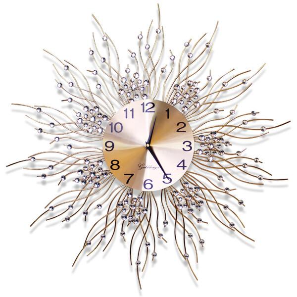 (현대Hmall) 아트골드디자인 무소음 철제벽시계 골드앤큐빅 G03/인테리어벽시계/디자인시계 상품이미지