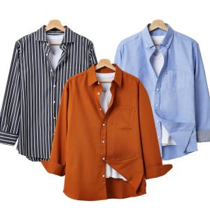 [핫코드]가을 남자셔츠/빅사이즈/반팔/와이셔츠/체크린넨/행사