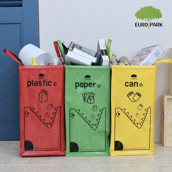 가정용 대용량 재활용 분리수거함 / 쓰레기통 휴지통 상품이미지