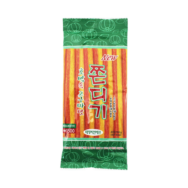 (태평) 호박속 고구마맛 쫀디기 150g (1박스-30개) 상품이미지