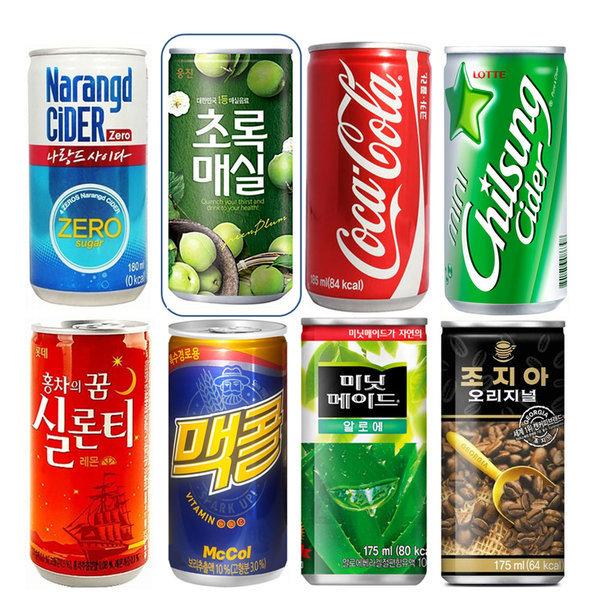 칠성사이다190mlx30캔/콜라/사이다/캔음료/음료수 상품이미지