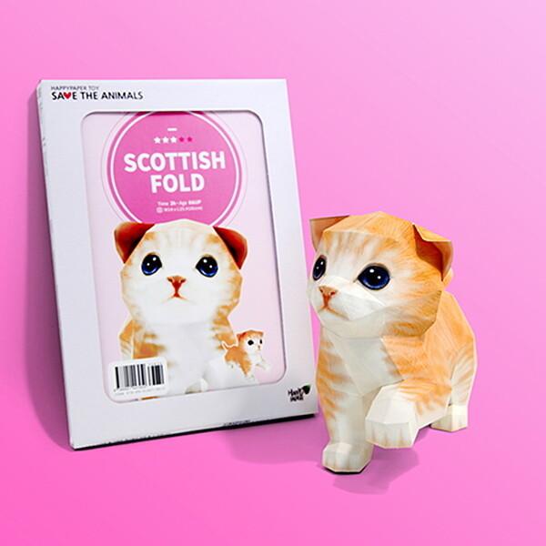 (현대Hmall) 해피페이퍼 스코티시폴드 고양이 DIY 페이퍼크래프트 만들기 바보사랑 상품이미지