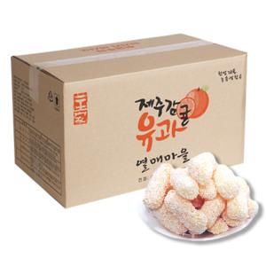 (대용량)제주감귤유과2kg+ 추석선물세트 한과 명절 떡