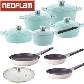 Neoflam/Carat/Doubled-Handled/Stew/Long Handle Saucepan/Frying Pan