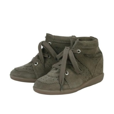 (AK MALL)(Off-white)Isabel Marant BOBBY WEDGE SNEAKERS BOBBY BK0003-00M002S 50TA TAUPE (IMS027)