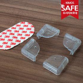 (KIMOS)투명 모서리보호대 4P세트 유아안전용품 코너