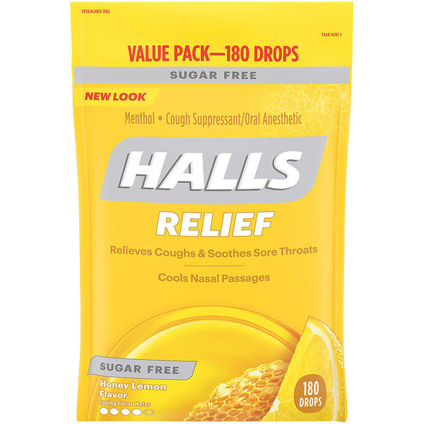 Halls 홀스 무설탕 허니레몬맛 180알 2팩 상품이미지