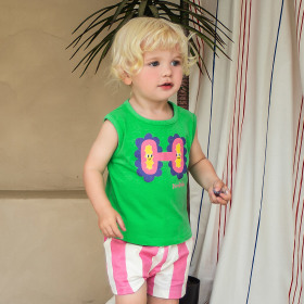 [pimpollo] Kids` clothing collection / t-shirt / pants / skirt / dress / suspender pants / floral /