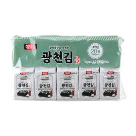 (1+1)해달음_광천김_4gx20봉