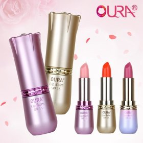 (OURA) Lip balm collection / SPF 15 / nourishing / moisturizing / Swarovski crystal on the lid /