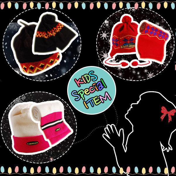 싸파 귀여운 아동 모자 목도리 세트 선택형 / 아동 모 상품이미지