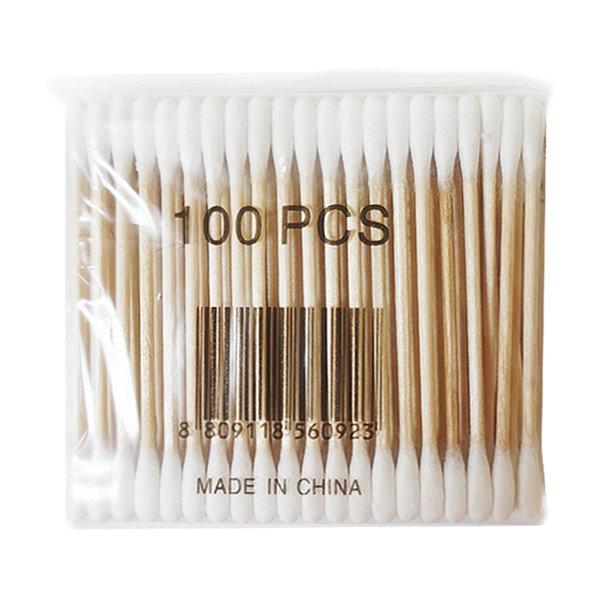 천연솜 면봉 100개입 자작나무 화장 유아 귀 상품이미지