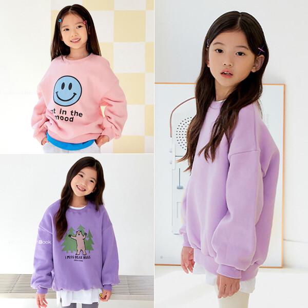 아동 기모 티셔츠/맨투맨/후드티/아동복/유아 옷/의류 상품이미지