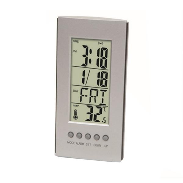 탁상 캘린더 시계 온도계-미니 소형 책상 소품 알람 상품이미지