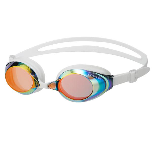 미러 수경 PN-1200M 레드 와이드렌즈 물안경 상품이미지