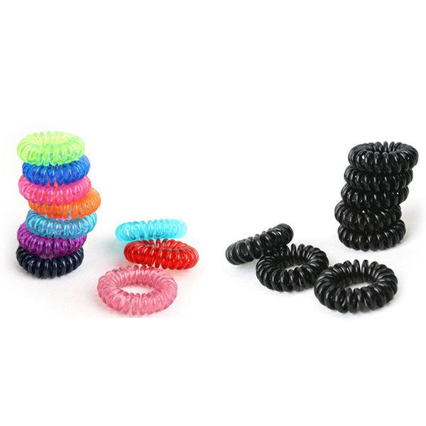 스프링머리끈(소) 30개 블랙/컬러  헤어끈 헤어밴드 상품이미지