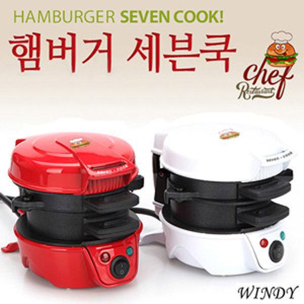 햄버거 세븐쿡/샌드위치메이커/홈메이드간식/전기그릴 상품이미지