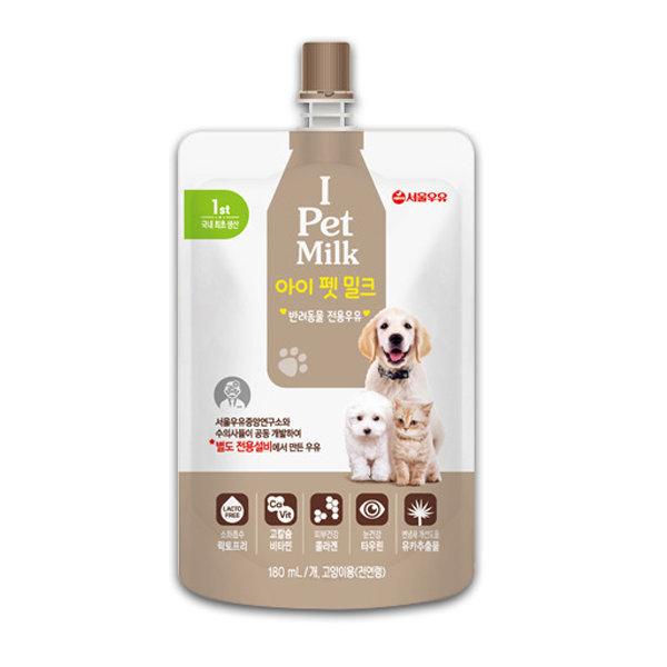 서울우유-i pet milk/고양이/강아지/전연령우유/180ml 상품이미지